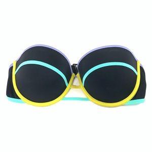 Victoria's Secret Swim - Victorias Secret Bikini Top 34D Flirt Bandeau Blue
